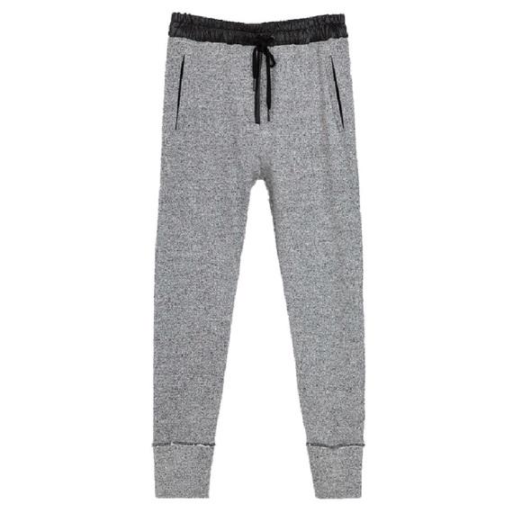 b6274e5a Zara Pants | Gray Sweat Joggers Black Band Drawstring | Poshmark
